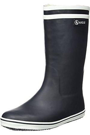 Women Snow Boots - Aigle Women's Malouine Fur Snow Boots - (Marine/White)