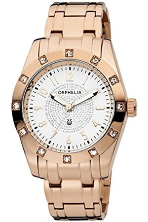 Women Watches - ORPHELIA Classic Glam Women's Quartz Watch with White Dial Analogue Display and Stainless Steel Bracelet 12609