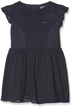 Girls Dresses - Tommy Hilfiger Girl's Dobby Mix S/S Dress