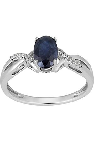 Women Rings - Sterling Silver Oval Gemstone Crossover Ring