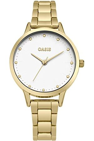 Women Watches - Oasis Women's Quartz Watch with White Dial Analogue Display and Alloy Bracelet SB003GM