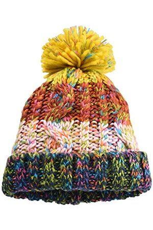 James & Nicholson Fancy Yarn Hat Beanie, Navy-Melange