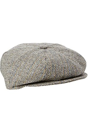 Men Hats - Men's Galvin Stripe Herringbone Flat Cap