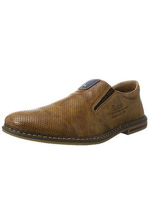 Rieker Men's 14565 Loafers, (Peanut/Royal / 25)