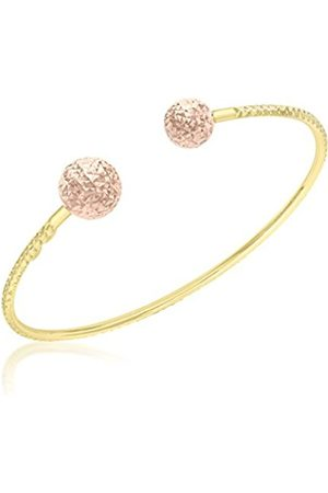 Women Bracelets - Carissima Gold Carissima 9 ct 2 Colour 8 and 10 mm Pine Torque Bangle