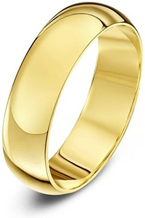 Rings - THEIA Unisex Super Heavy Weight 5 mm D Shape 9 ct Gold Wedding Ring - Q