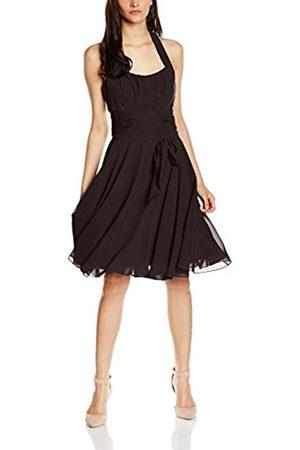Women Party & Evening Dresses - Women's Co8002ap Knee-Length Plain Cocktail Sleeveless Dress, Brown