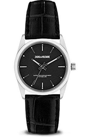 Zadig & Voltaire Unisex Date Quartz Watch with Leather Bracelet - ZVF234