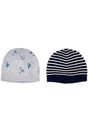 Boys Hats - Mothercare Boy's Stripy and Tractor-2 Pack Hat