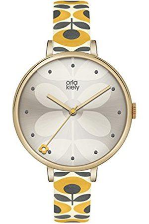 Orla Kiely Womens Analogue Classic Quartz Watch with Leather Strap OK2136