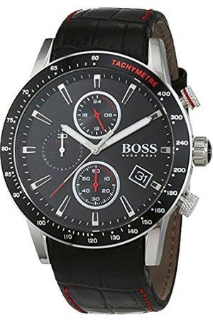 HUGO BOSS Men's Chronograph Quartz Watch with Leather Strap – 1513390