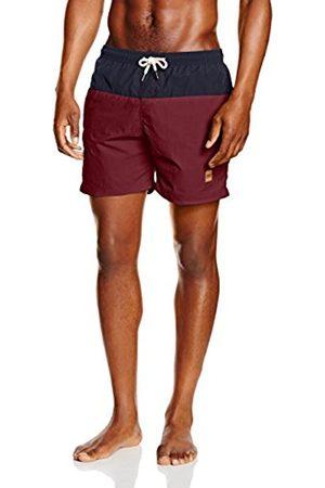 GSdept. Men's Block Shorts Swim Trunks, Multicoloured-Mehrfarbig (Nvy/Burgundy 675)