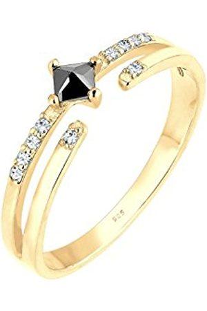 Elli Women Wrapped Zirconia Swarovski Crystals Silver Ring - Size M 0603943117_52