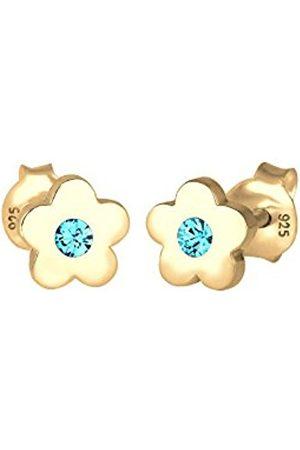 Elli Women Children Flower Swarovski Crystals 925 Silver Plated Earrings 0303621317