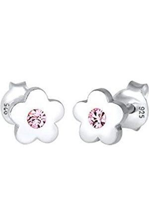 Elli Women Children Flower Swarovski Crystals 925 Sterling Silver Earrings 0303711317
