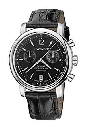 Wenger Men's Chronograph Quartz Watch with Leather Strap 01.1043.112
