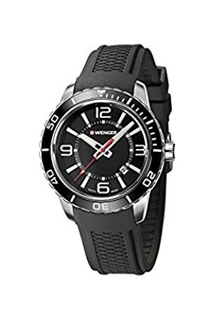 Wenger Men's Analogue Quartz Watch with Silicone Strap 01.0851.117