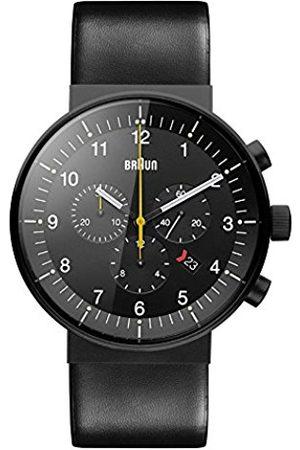 von Braun Men's Quartz Watch with Dial Analogue Display and Leather Strap BN0095BKG