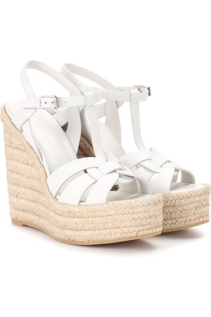 Saint Laurent Espadrille wedge leather sandals