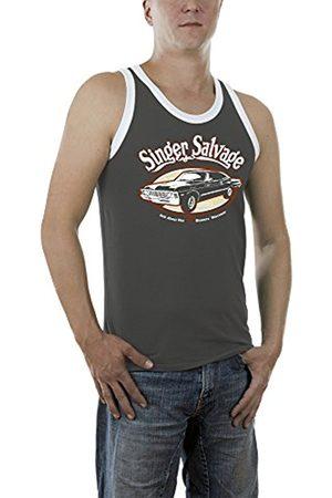 Jaded London Men's Singer Salvage Impala Kontrast Vest, -Grau (Darkgrey 17)