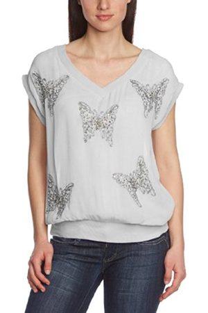 Cream & Co. Cream Women's V-Neck Short Sleeve T-Shirt - - 10