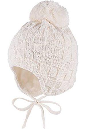 Papillon Girl's Mütze, Ausgenäht, Struktur, Bommel, Bindeband Hat, -Weiß (Wollweiss 38)