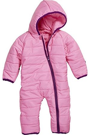 Paper Dolls Petite Baby Puffer Overall Lightweight Quilted Hooded Snowsuit