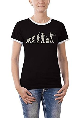 Jaded London Evolution Zombies Girlie Ringer Women's T-Shirt Contrast Size:S