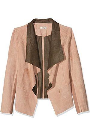 Cuple Women's Chaqueta Piel Rosa Marron Jacket - - M