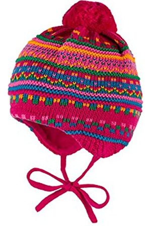 Papillon Girl's Mütze, Ausgenäht, Bommel, Bindeband Hat, Multicoloured-Mehrfarbig (Dunkelpink 57)