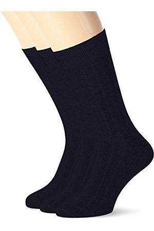 Selected HOMME Men's SHDPETE 3-PACK COTTON RIB SOCK NOOS Calf Socks