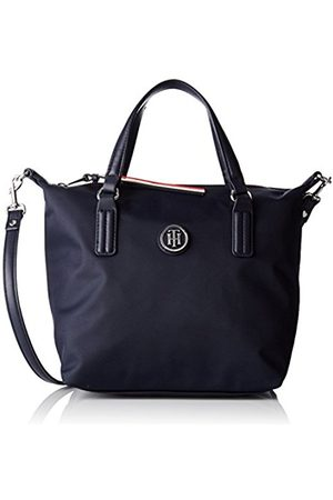 Tommy Hilfiger Womens Poppy Small Tote Canvas and Beach Tote Bag (Tommy Navy)