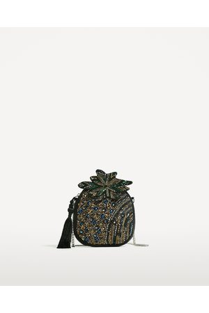 Women Shoulder Bags - Zara PINEAPPLE CROSSBODY BAG