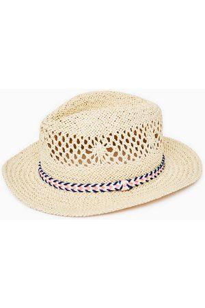 Zara STRAW HAT WITH RIBBON