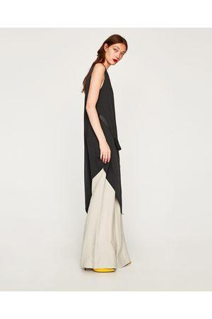 Zara ASYMMETRIC DRESS WITH METAL DETAIL