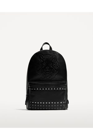 Zara EMBOSSED AND STUDDED BACKPACK