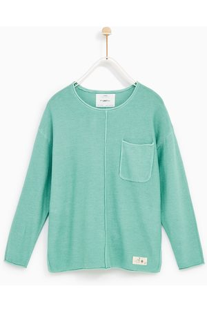 Zara TEXTURED SWEATER WITH POCKET - Available in more colours