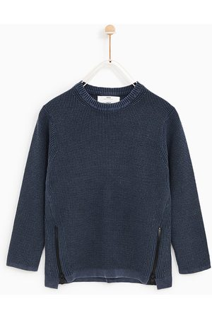 Zara TEXTURED SWEATER WITH ZIPS - Available in more colours