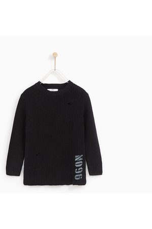 Zara FADED SWEATER WITH RIPS