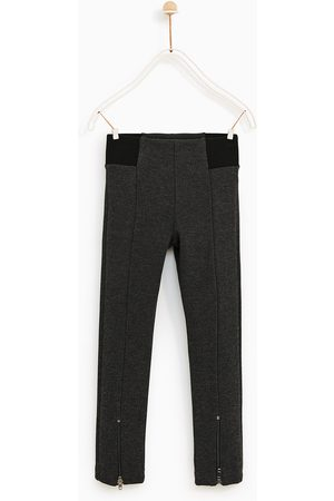 Zara PONTE DI ROMA KNIT LEGGINGS WITH ZIPS - Available in more colours