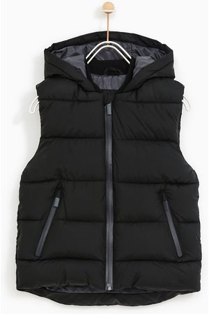 Zara BASIC QUILTED GILET WITH HOOD - Available in more colours