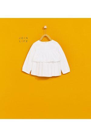 Zara FRILLY POPLIN SHIRT
