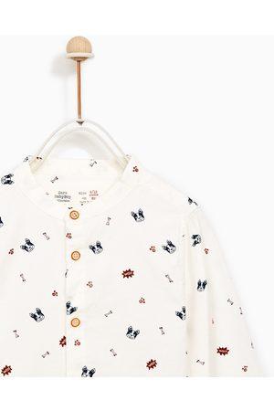 Zara PUPPY PRINT SHIRT