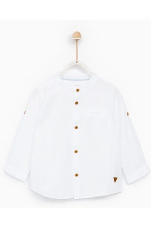 Zara TEXTURED SHIRT WITH ROLL-UP SLEEVES