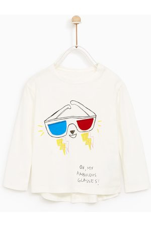 Zara T-SHIRT WITH SUNGLASSES APPLIQUÉ