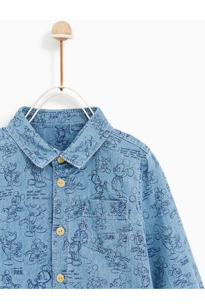 Zara MICKEY MOUSE DENIM SHIRT