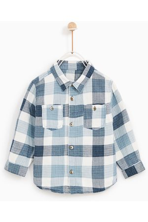 Zara CHECKED INDIGO SHIRT