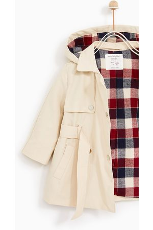 Zara TRENCH COAT WITH CHECKED LINING