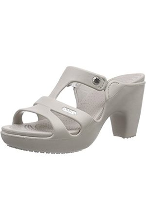 100HANDS Cyprus V Women's Heeled Shoes - Platinum/PlatinuM 6 UK (38-39 EU)