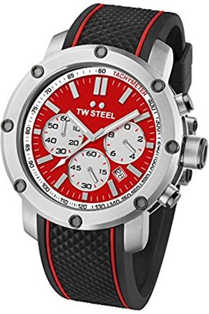 TW steel Men's Quartz Watch with Dial Chronograph Display and Rubber Strap TS1